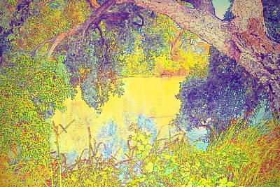 Photograph - Lodi Lake Watercolor Three by Joyce Dickens