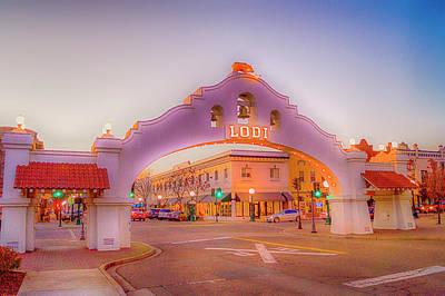 Thomas Kinkade Rights Managed Images - Lodi Mission Arch Royalty-Free Image by Craig David Morrison