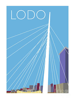Digital Art - Lodo/blue by Sam Brennan