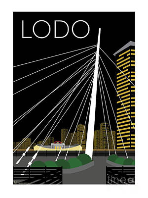Digital Art - Lodo By Night by Sam Brennan