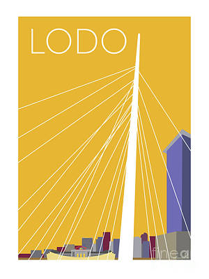Digital Art - Lodo/gold by Sam Brennan