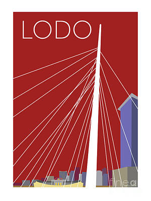 Digital Art - Lodo/maroon by Sam Brennan