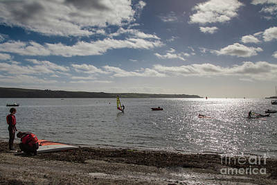 Photograph - Loe Beach Windsurfers by Brian Roscorla