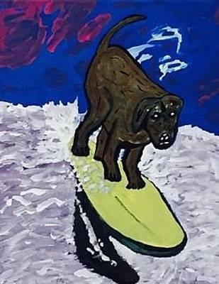 Painting - Loews Coronado Bay Resort Surf Dog Surfing Competition by Jonathon Hansen