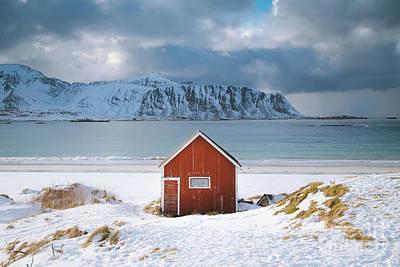 Photograph - Lofoten Winter Cabin by JR Photography