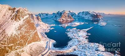 Photograph - Lofoten Winter Sunrise Panorama by JR Photography