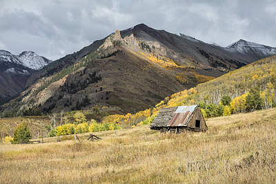 Photograph - Log Barn In The Mountains by Denise Bush