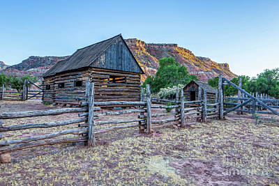 Photograph - Log Barns Grafton Ghost Town by Edward Fielding