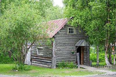 Photograph - Log Building Talkeetna by David Arment