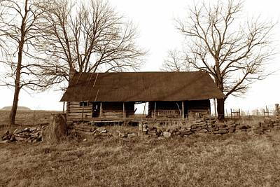 Winter Animals Rights Managed Images - Log Cabin #101S Royalty-Free Image by John Myers