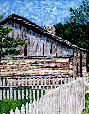 Log Cabin At Conner Prairie Art Print by Stan Hamilton