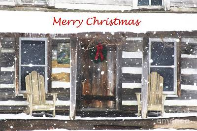 Photograph - Log Cabin Christmas by Benanne Stiens