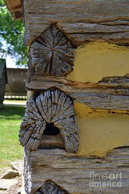 Photograph - Log Cabin Detail by Lew Davis