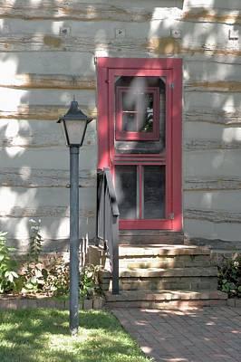 Photograph - Log Cabin Door In Lewes Delaware by Kim Bemis