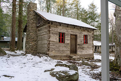 Photograph - Log Cabin Elkmont by Sharon Popek