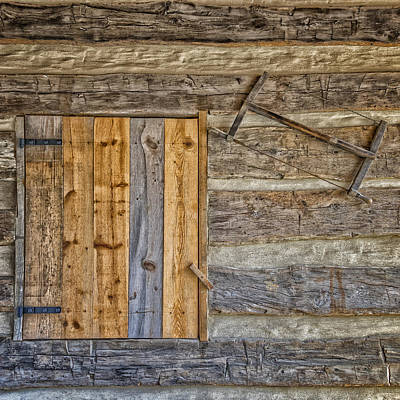 Photograph - Log Cabin Hermann Mo Dsc2351_16 by Greg Kluempers