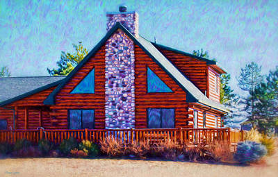 Photograph - Log Cabin Home by Anna Louise