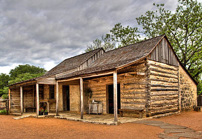 Log Cabins Photograph - Log Cabin In Lbj State Park by David and Carol Kelly