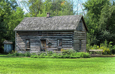 Photograph - Log Cabin In Michigan by Dave Mills