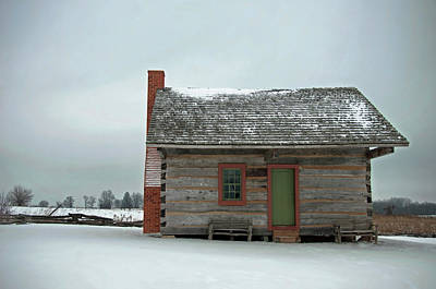 Photograph - Log Cabin In The Snow by David Arment