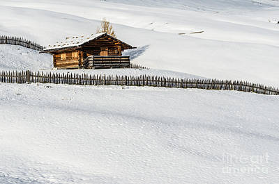 Photograph - Log Cabin In The Snow by IPics Photography
