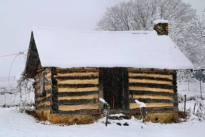 Photograph - Log Cabin In The Snow by Kathryn Meyer
