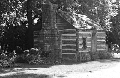 Log Cabin Print by Peggy Leiva Conley