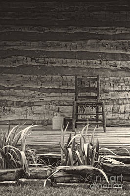 Photograph - Log Cabin Porch by Imagery by Charly