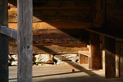 Photograph - Log Cabin Porch by Kathryn Meyer
