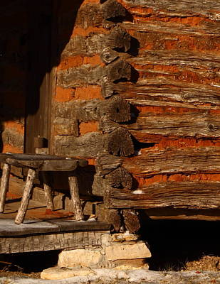 Log Cabins Photograph - Log Cabin by Robert Frederick
