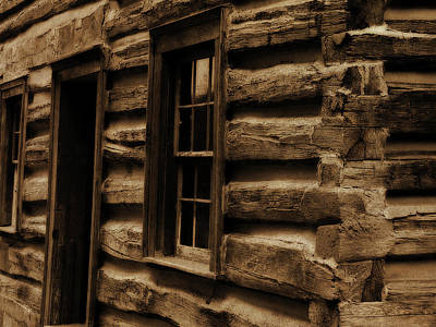 Log Cabins Photograph - Log Cabin by Scott Hovind