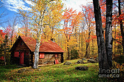Photograph - Log Cabin by Scott Kemper