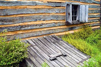 Log Cabin Storm Cellar Door Art Print by Paul W Faust -  Impressions of Light