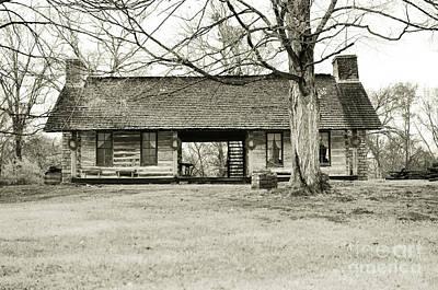 Log Cabin @ Belle Meade Plantation Art Print