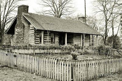 Belle Meade Plantation Photograph - Log Cabin With Garden by Wendy Walker