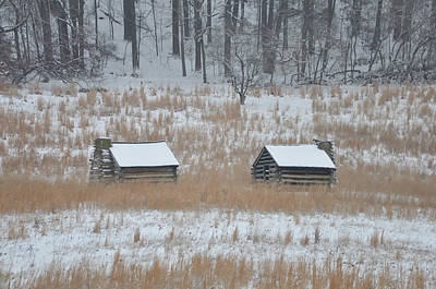 Log Cabins Digital Art - Log Cabins In Valley Forge by Bill Cannon