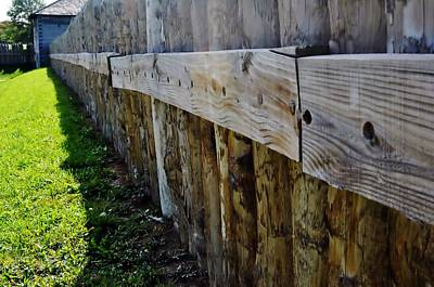 Photograph - Log Fence by Michelle McPhillips