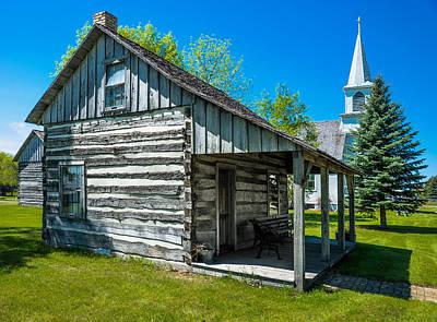 Log Cabin Art Photograph - Log House With Veranda by Donald  Erickson