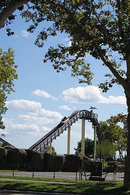 Photograph - Log Ride At The Amusement Park by Margie Avellino
