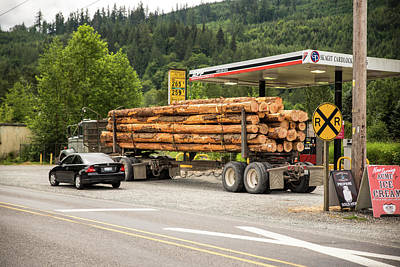 Photograph - Log Truck In Acme by Tom Cochran