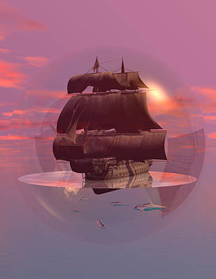 Log Wind Sse 5mph Seas Calm Art Print by Claude McCoy