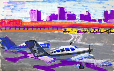 Painting - Logan Airport-cape Air by Candace Lovely