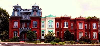 Photograph - Logan Circle Row Houses - Washington D.c. by L O C