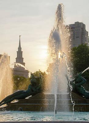 Photograph - Logan Circle - Swann Fountain - Philadelphia by Bill Cannon