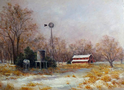 Painting - Logan County Winter by Jill Musser