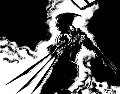 Wolverine Drawing - Logan by Demian Legg