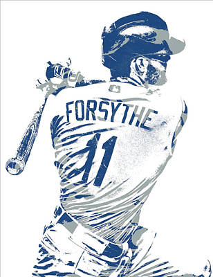 Mixed Media - Logan Forsythe Los Angeles Dodgers Pixel Art 1 by Joe Hamilton