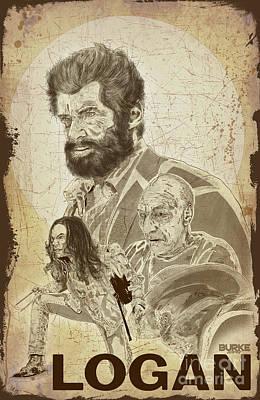 Digital Art - Logan by Joseph Burke