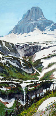 Rocky Digital Art - Logan Pass by Mary Giacomini