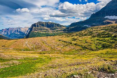 Photograph - Logan Pass Panorama by John M Bailey